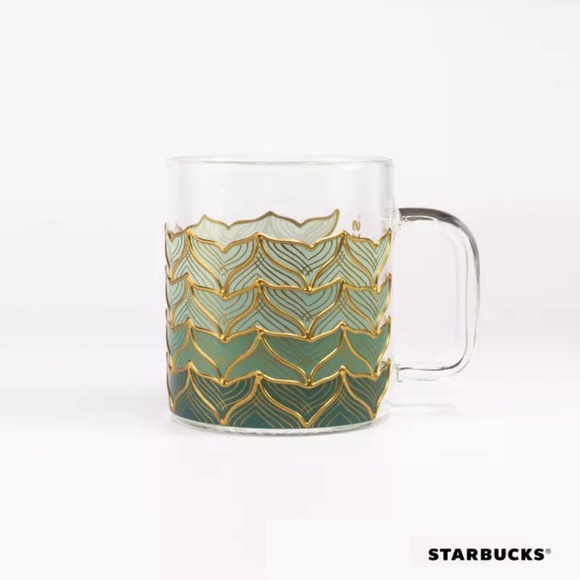 STARBUCKS Limited Edition Glass Mermaid Tail Mug